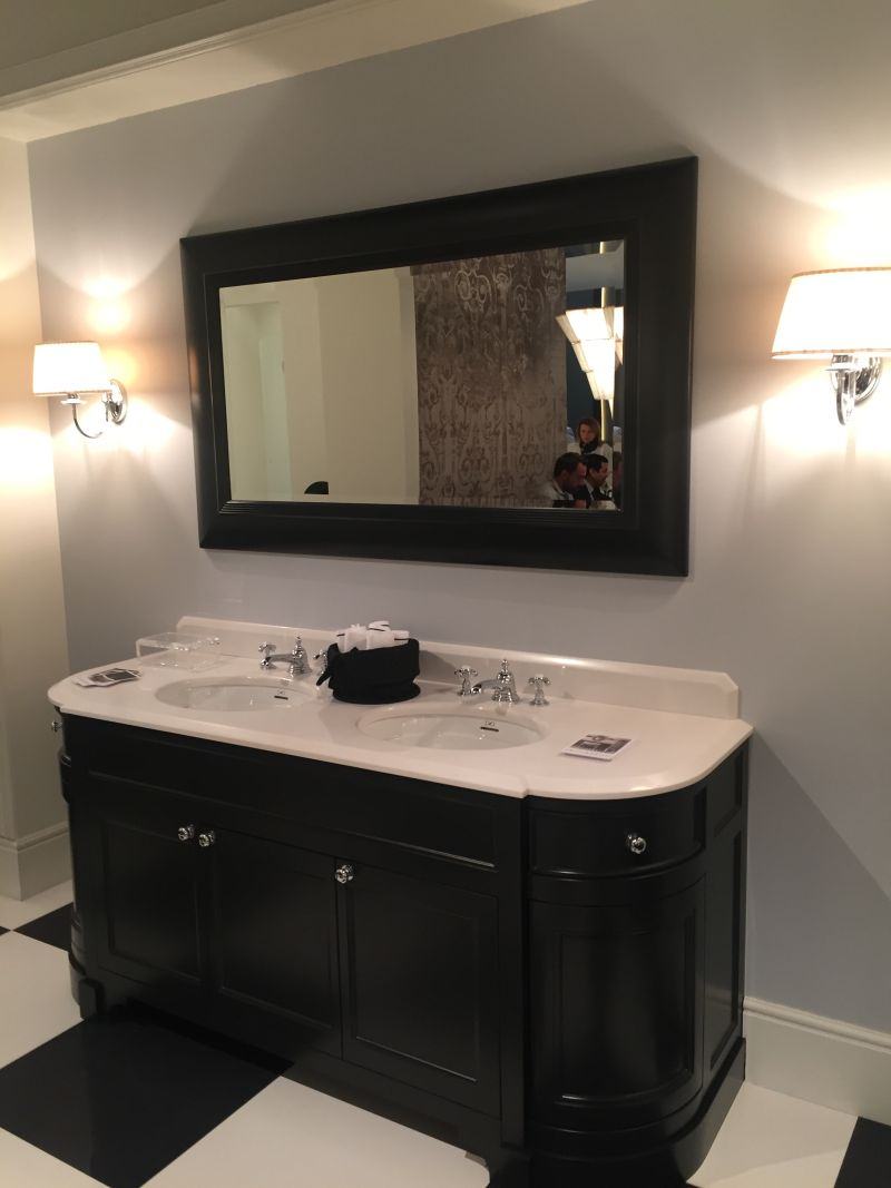 Black double large vanity