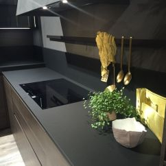 Kitchen Design Tools Cute Curtains Drama And Elegance Reflected In A Black Countertop With Holder