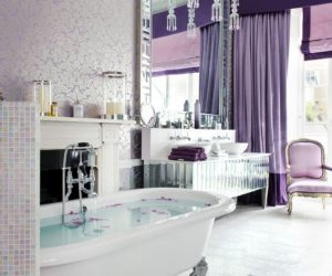 Chic bathroom with levender color