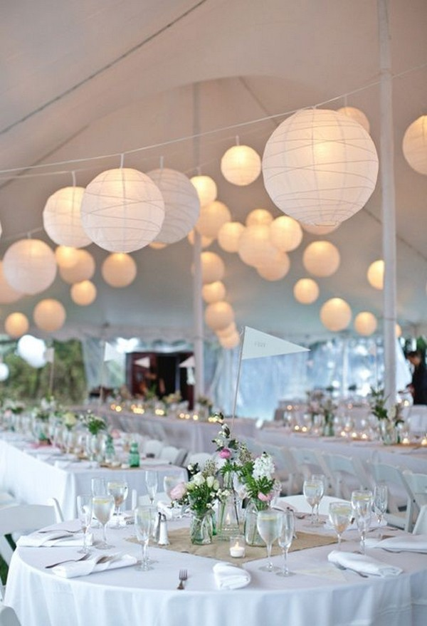 Chinese lanterns for a wedding tent