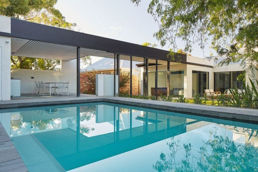 pool pump house shed design