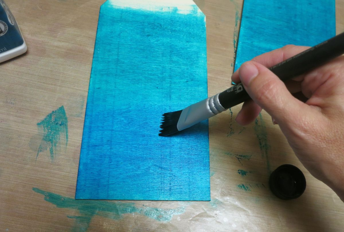 Coastal Themed Wood Tag Coat of Paint