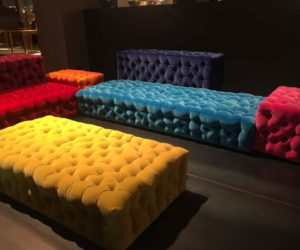Colorful tufted modular sofa