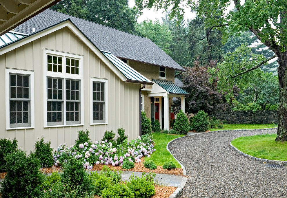Create a small gravel driveway for a car