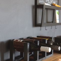 Kitchen Wine Rack Backsplash Tiles Diy With Leather Sling