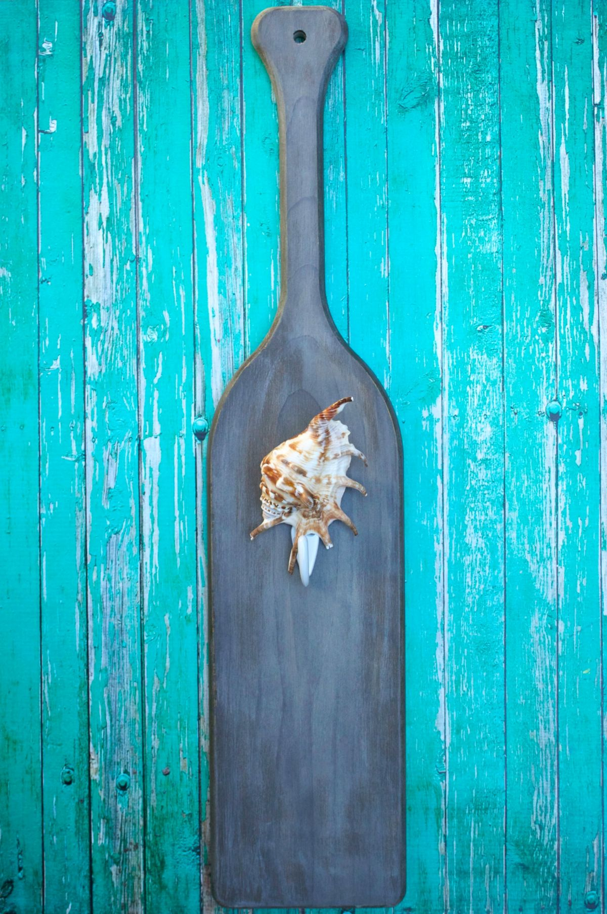 DIY Paddle Towel Hook Home for a coastal decor