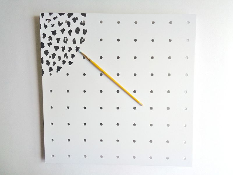 DIY Painted Patterned Pegboard Paint
