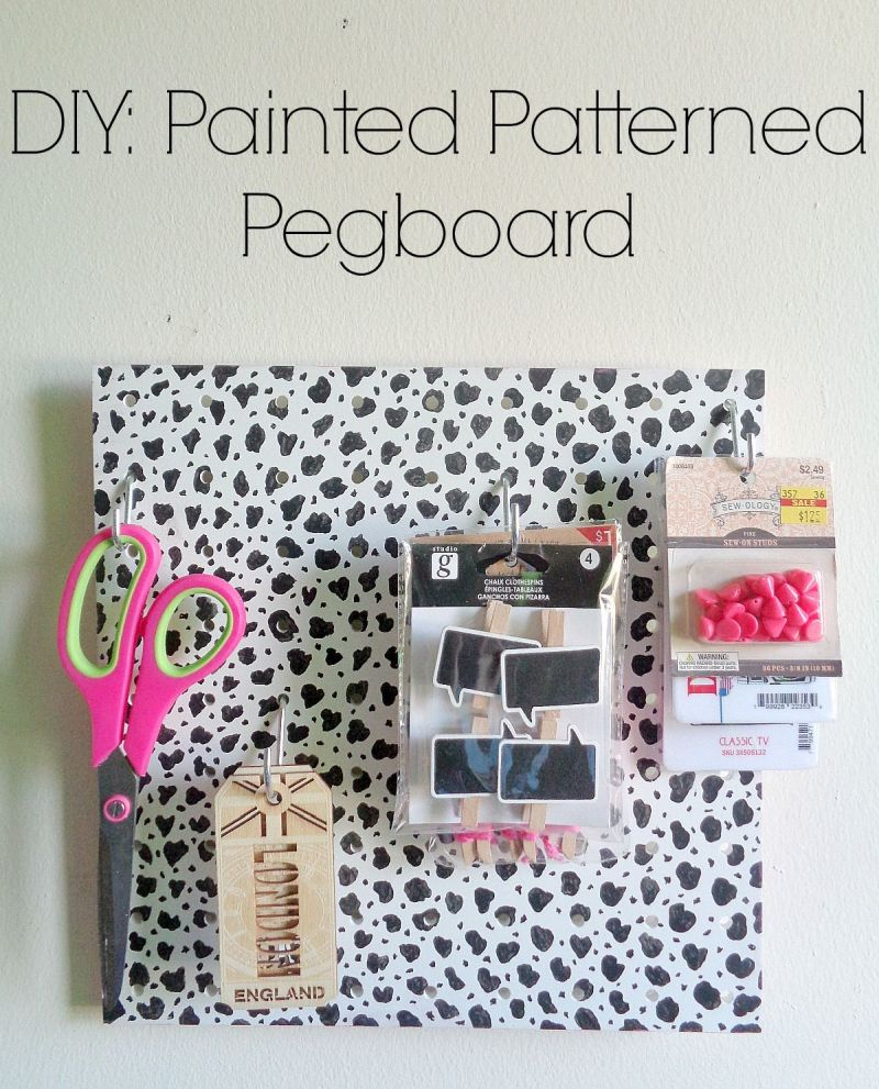 DIY Painted Patterned Pegboard