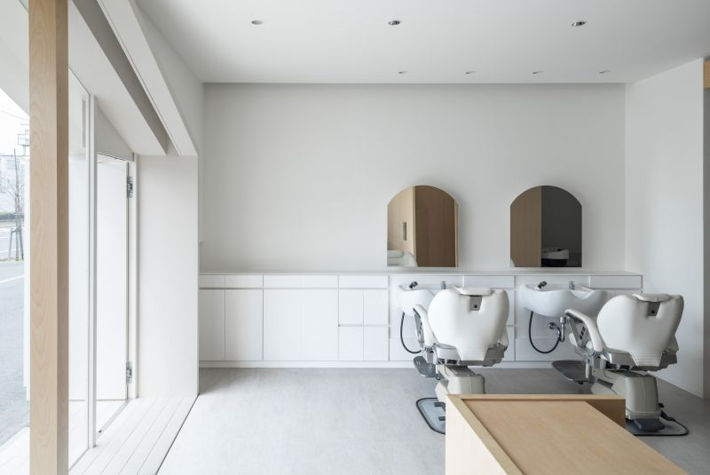 Folm art beauty salon interior with a white design