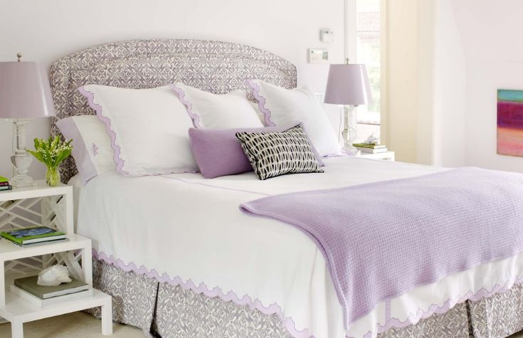 Fresh levender bedroom design