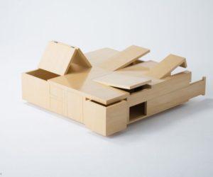 Kai coffee table designed for storage