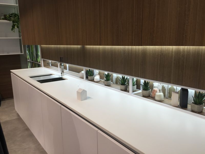 Kitchen cupboards with High-Efficiency LED Lighting