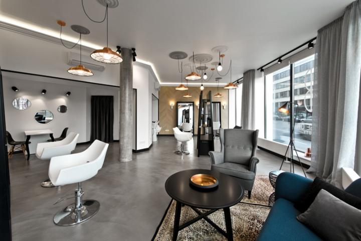 Lithuania beauty salon with beautiful lighting