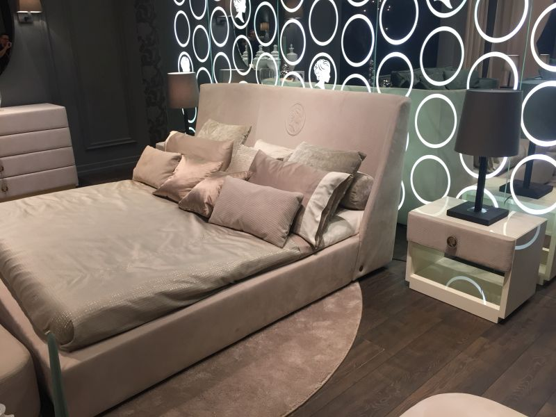 Luxury bed design with a crean pattern