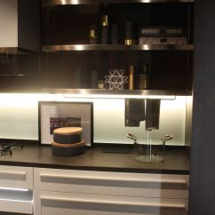 Black Kitchen Storage Cabinet Faucets Under-cabinet Led Lighting Puts The Spotlight On ...