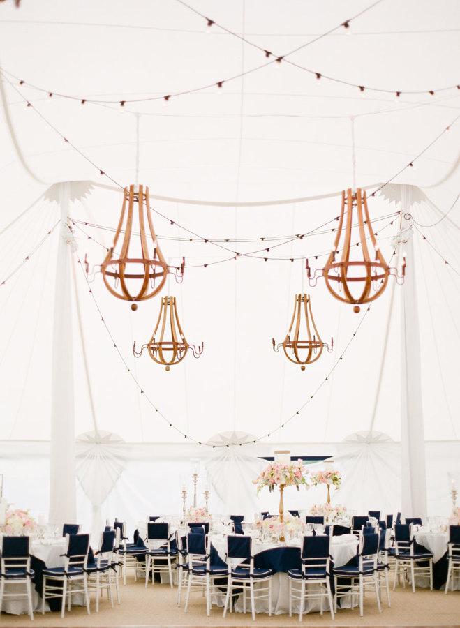 Nautical theme for a wedding tent