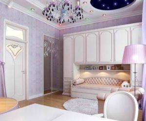 Sweet teenage girl levender room