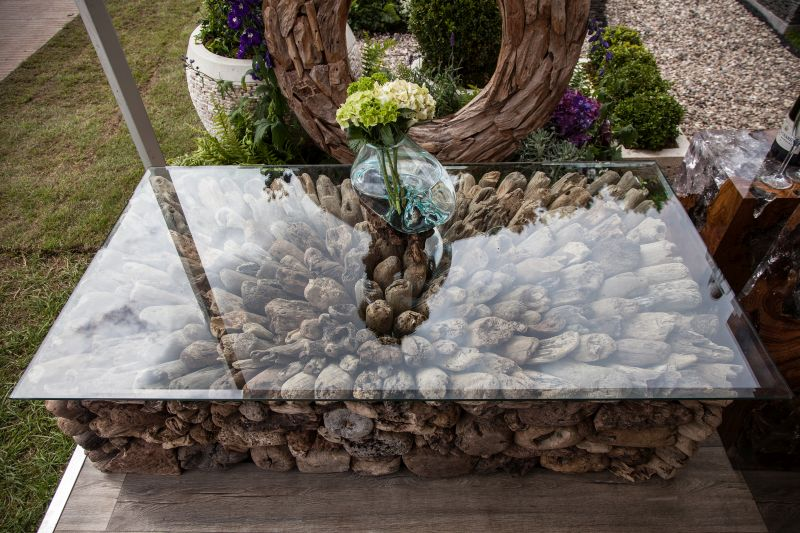Unique coffee table for outdoor