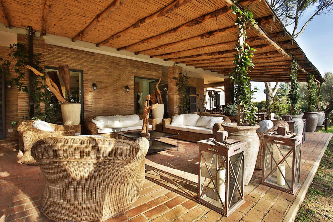 Villa outdoor space living in Olgiata, Italy