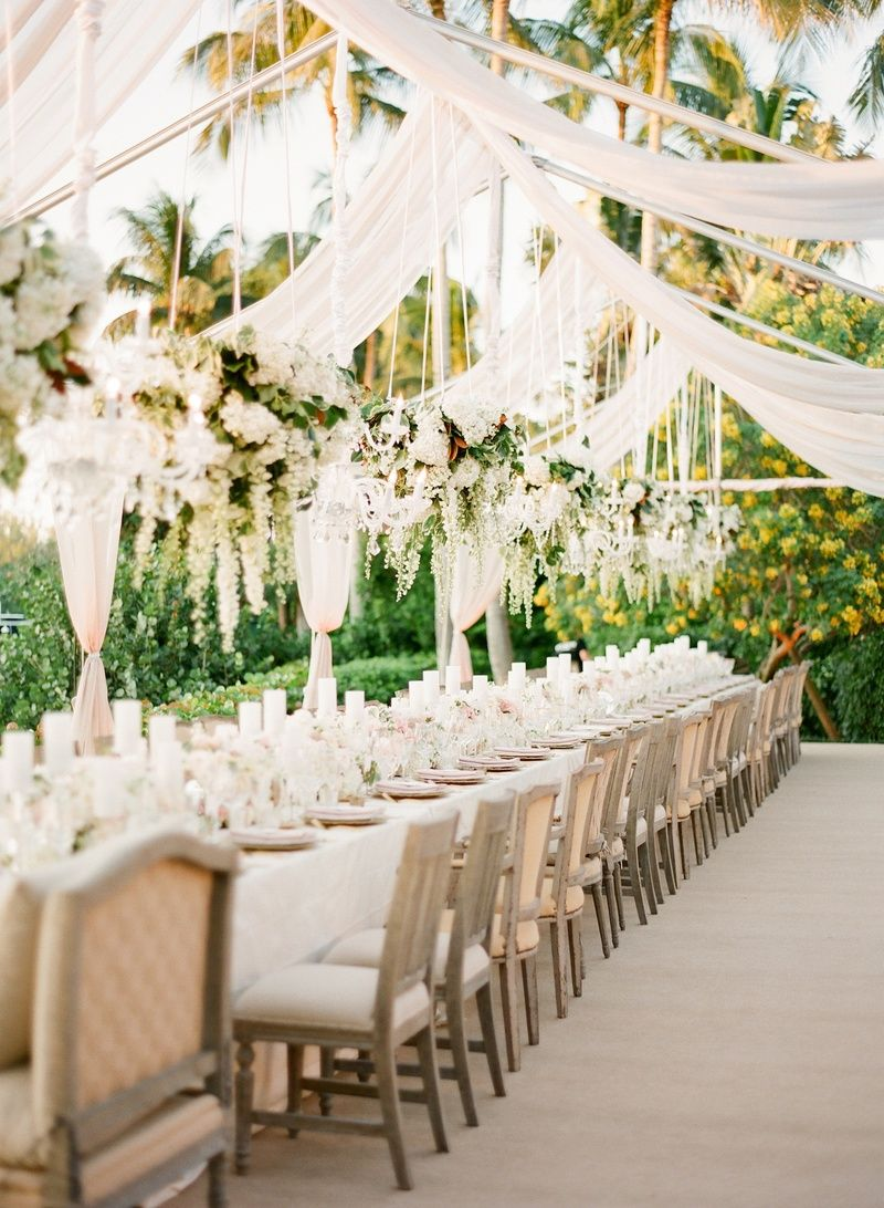 Wedding tent reception
