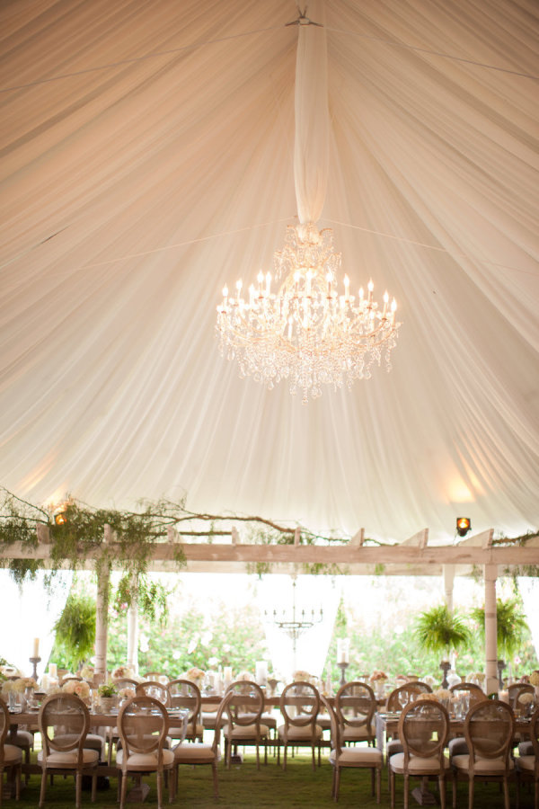 Wedding tents are definitely more casual
