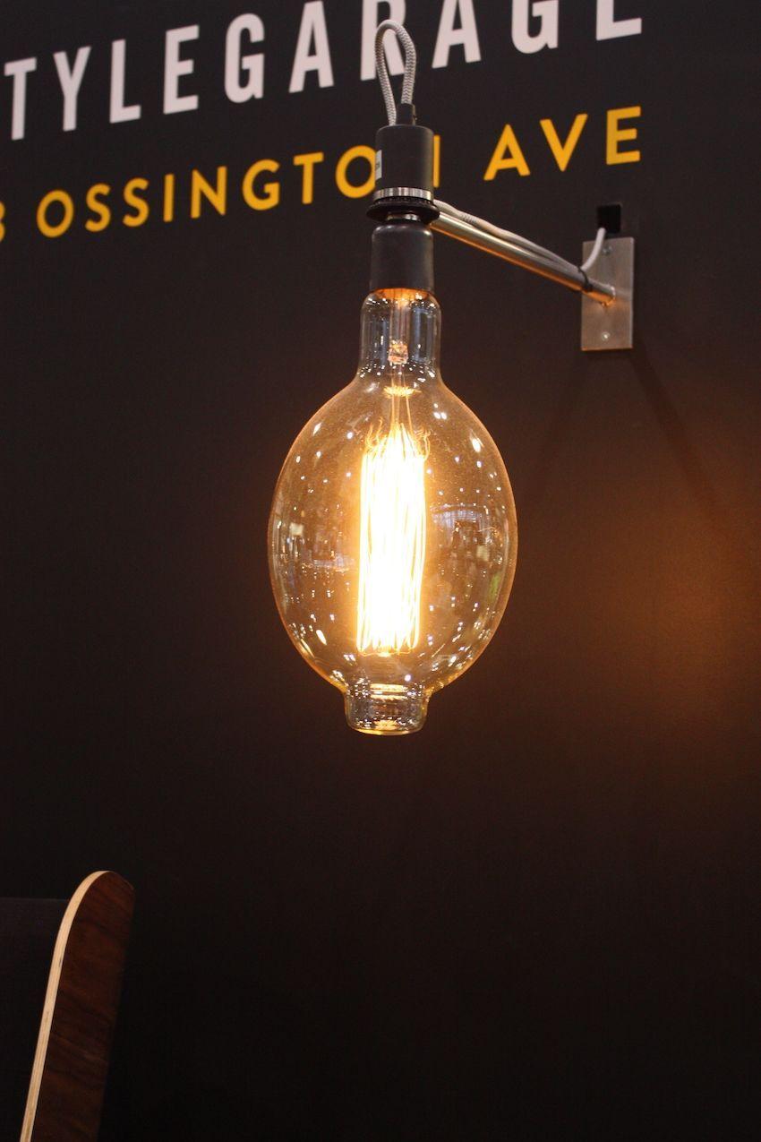 style garage light with led edison light