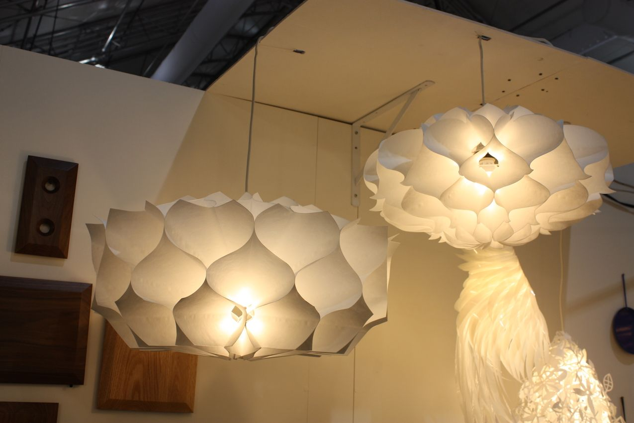 Artecnica tyvek lights at Las Vegas Market