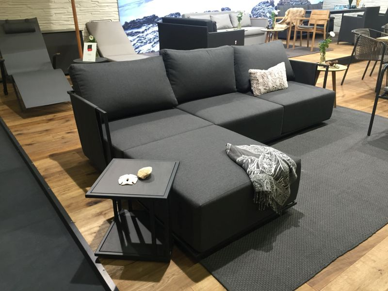 Black sofa tray table