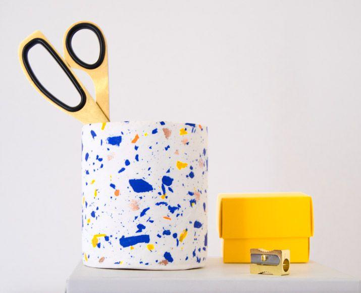 Colorful pencil holder DIY