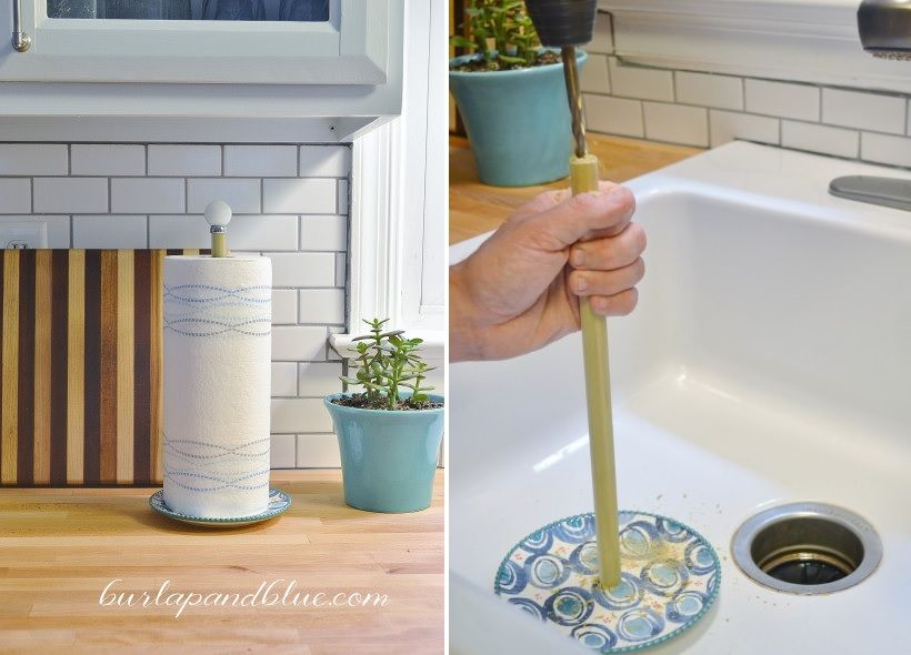 Create a towel paper holder