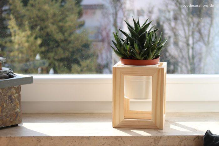 DIY mini cube plant stand