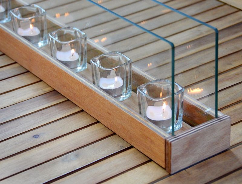 DIY outdoor votives lighting