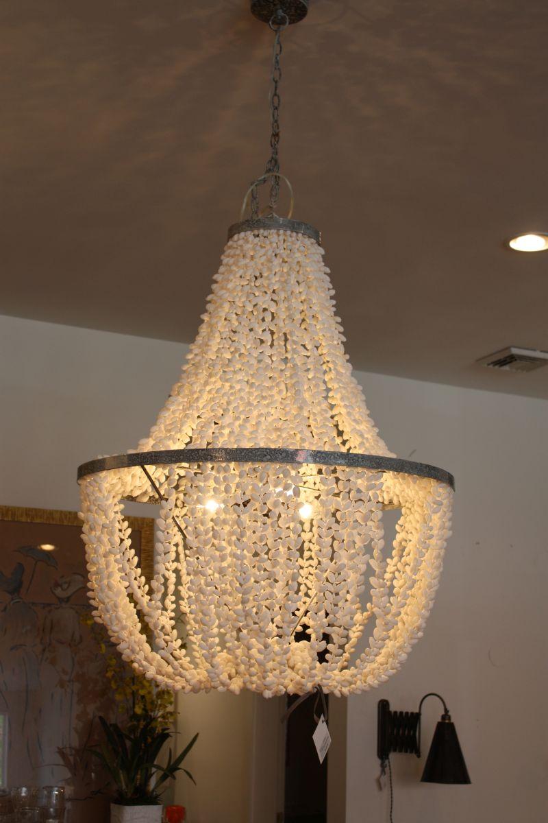 Flowy macrame chandelier