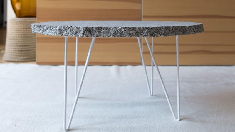 Granite hairpin legs table