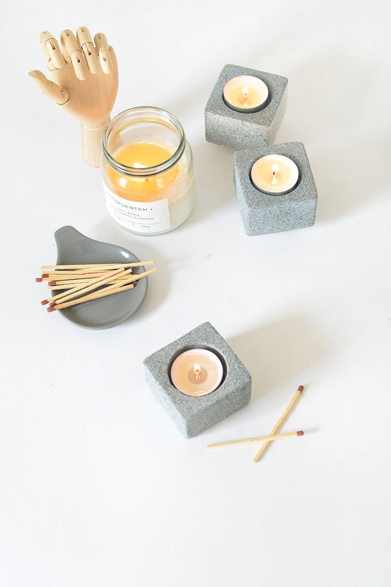 Granite tealight holders