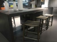 Modern kitchen island - counter height stools from wood ...