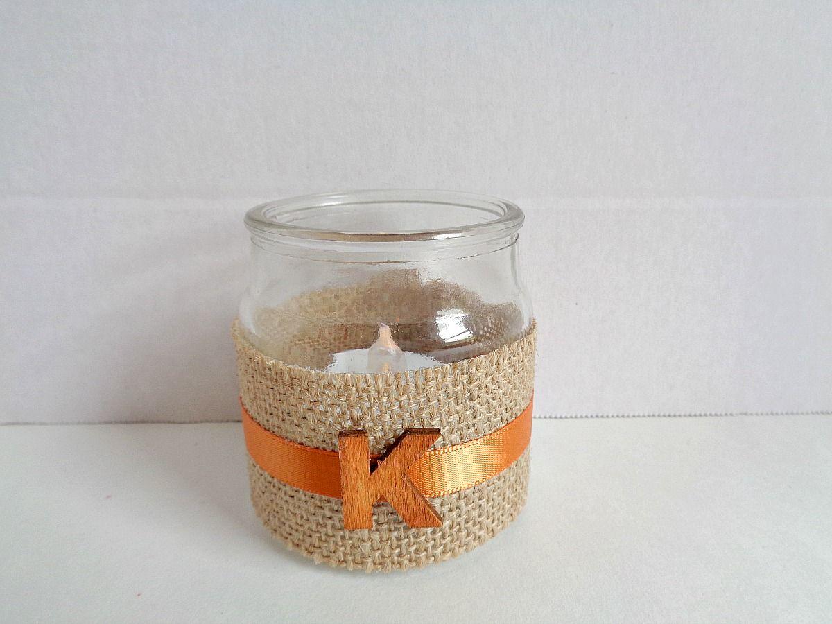 Monogram Candle Jar