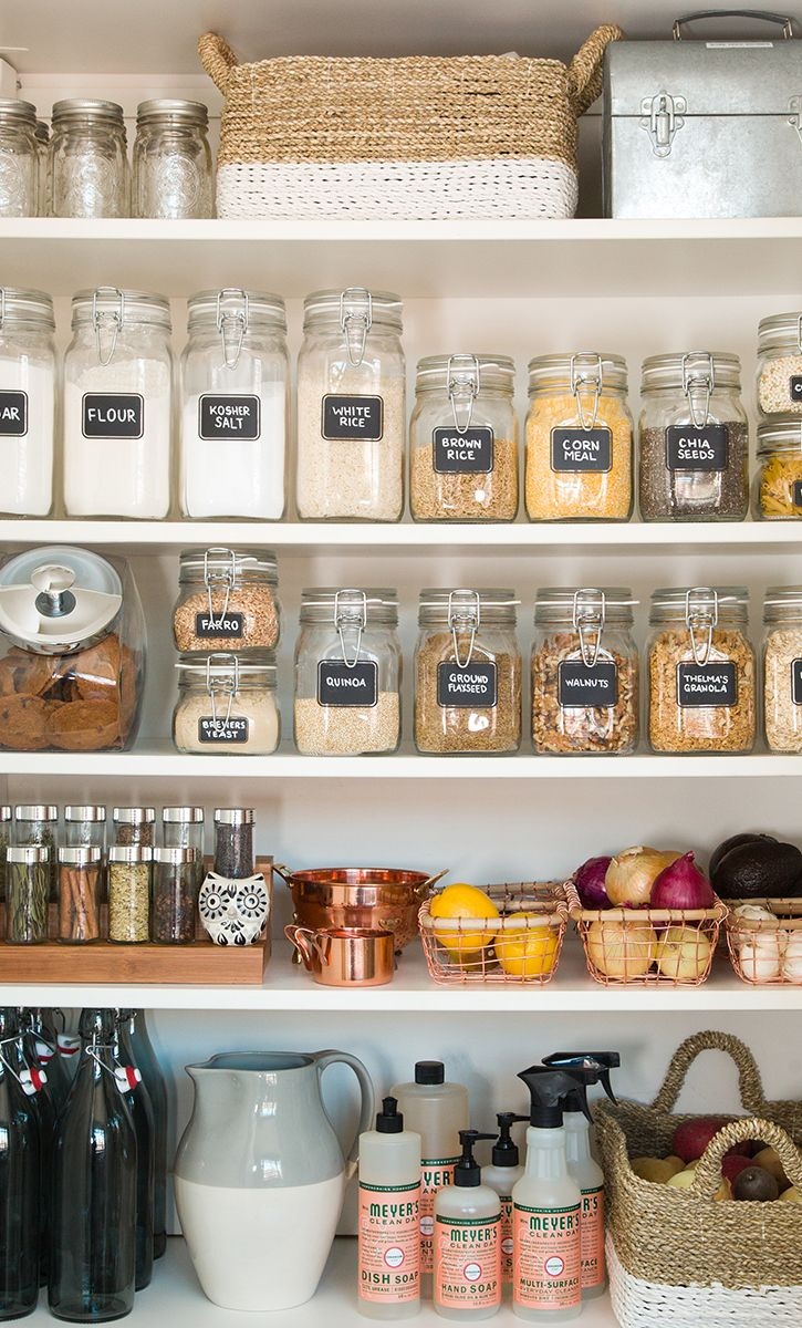 Pantry jar storage organization