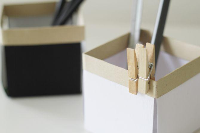 Paper desk boxes