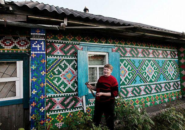 Russian bottle cap house