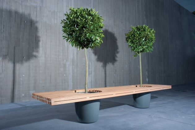 Simple and elegant planter bench