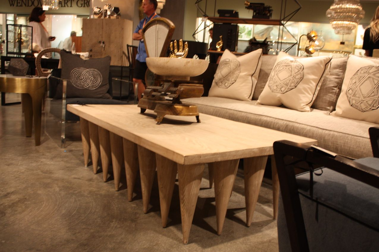 Like a small army, the tapered legs support the table.