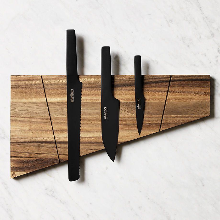 Wood knife block