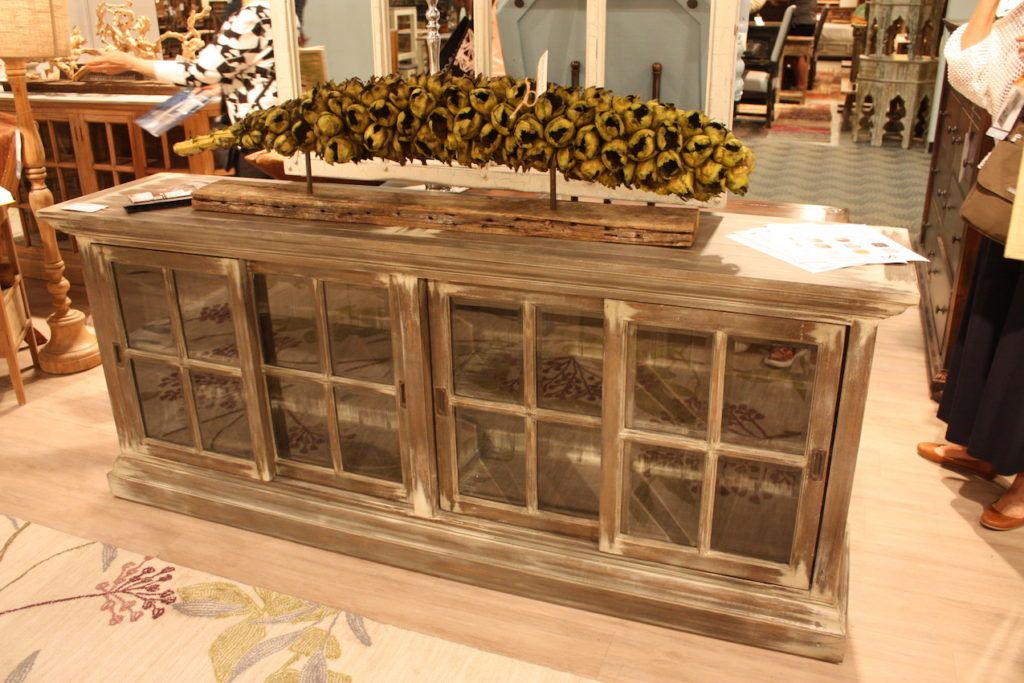 Bramble glass front sideboard