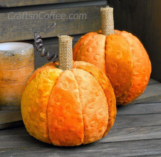 Cozy and soft pumpkin decor