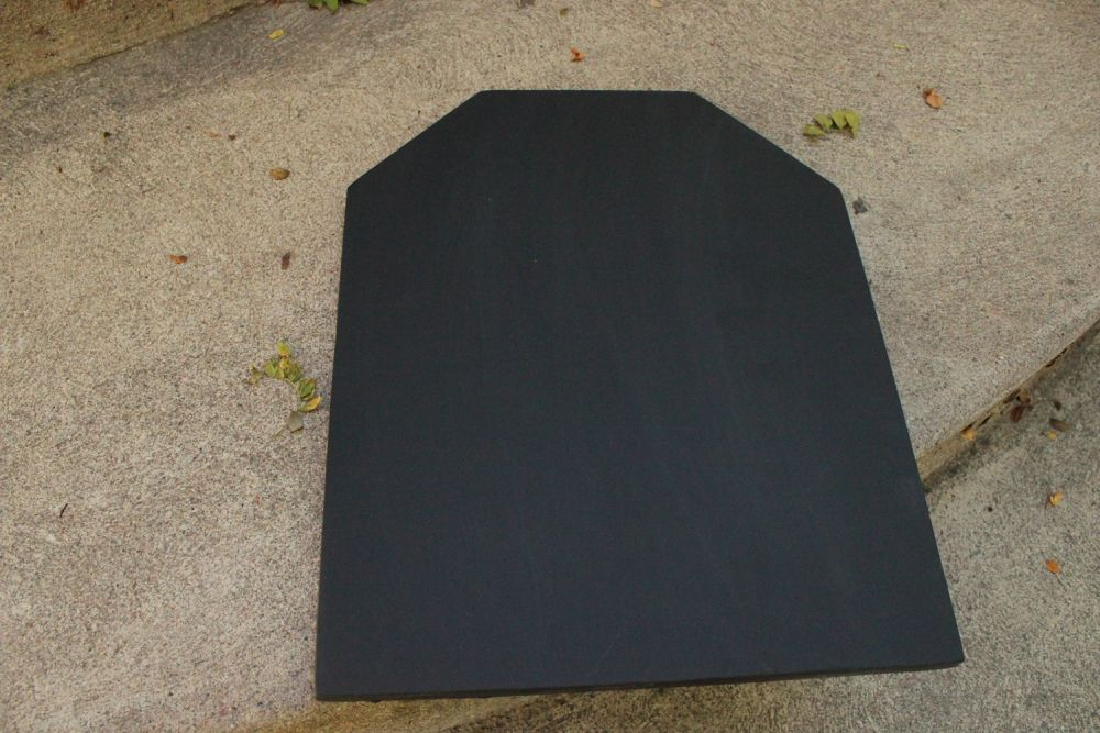 DIY Chalkboard Tombstone - start writing on chalk