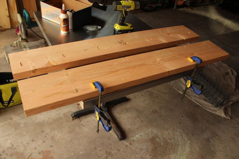 DIY Industrial Bench-large enough clamps