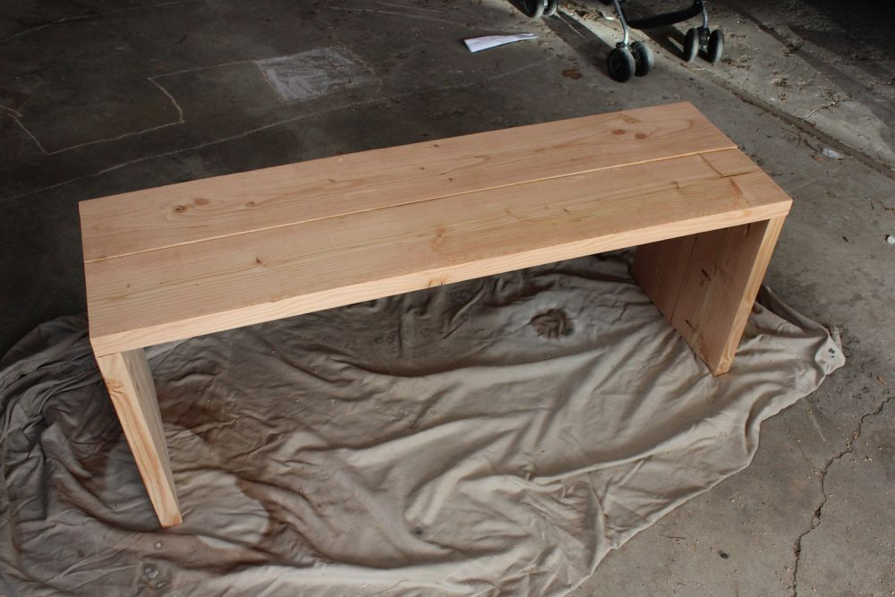 DIY Industrial Bench - only wood