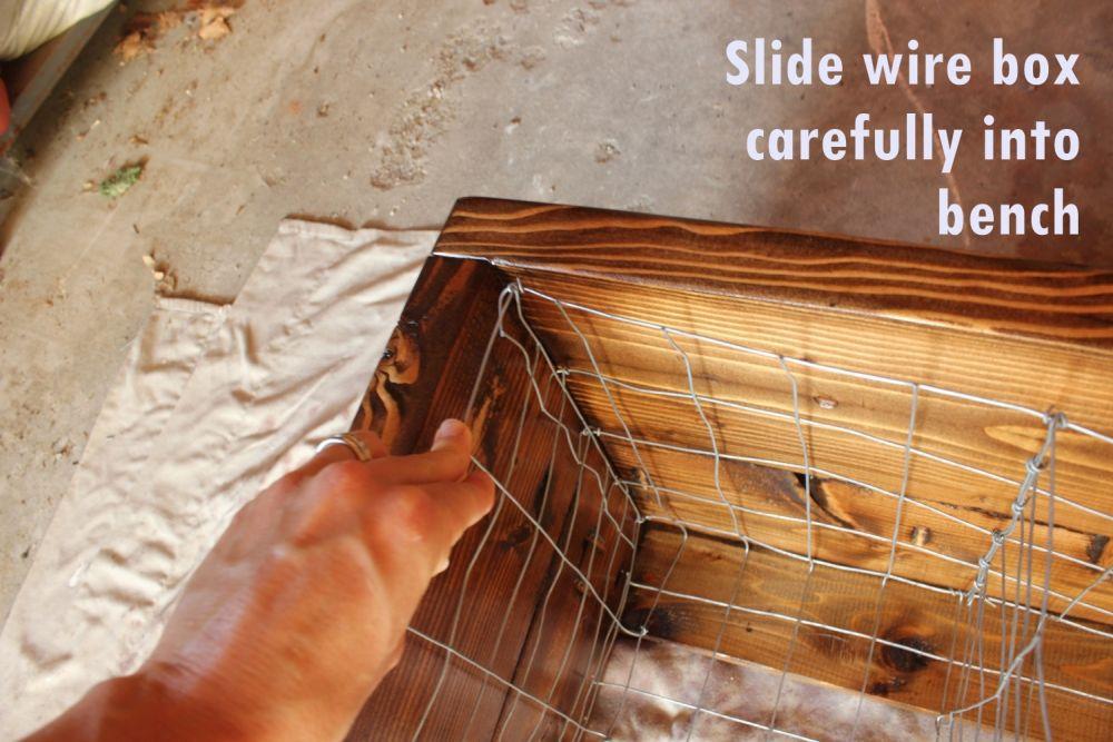 DIY Industrial Bench- slire wire