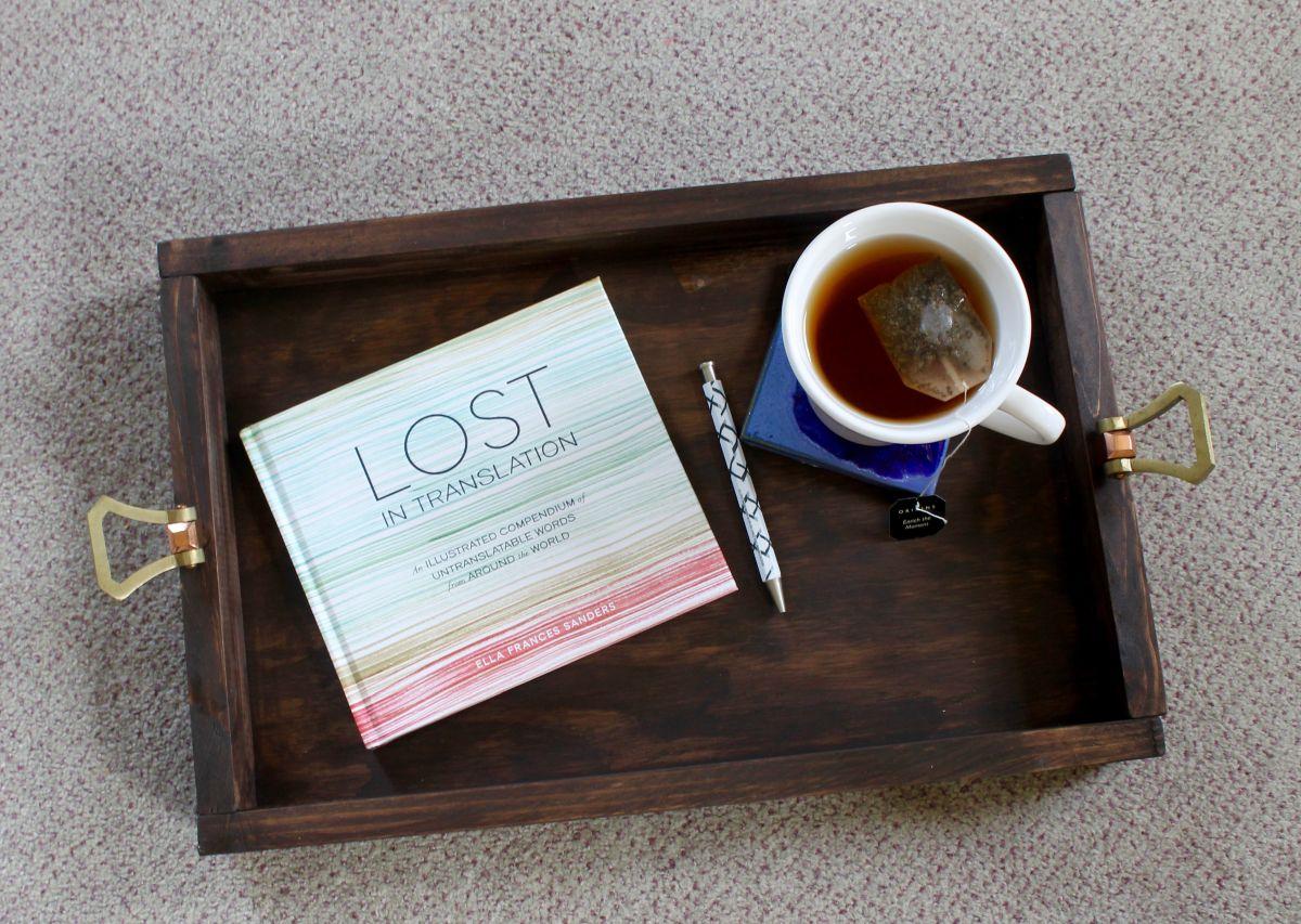DIY Wooden Tray Using Drawer Knob Handles